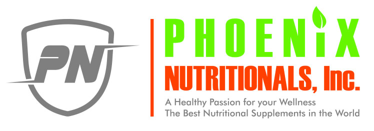 Phoenix Nutritionals America's #1 Full Spectrum Nutritional Product – GMP Certified Full Spectrum Highly Absorbable Supplements. The Best Vitamins for a Woman and a Man Logo